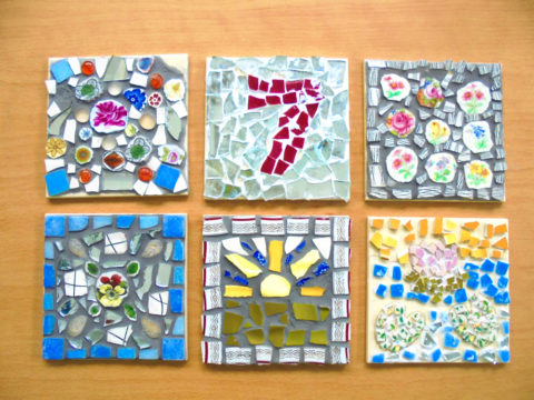 vintage ceramic mosaic workshop