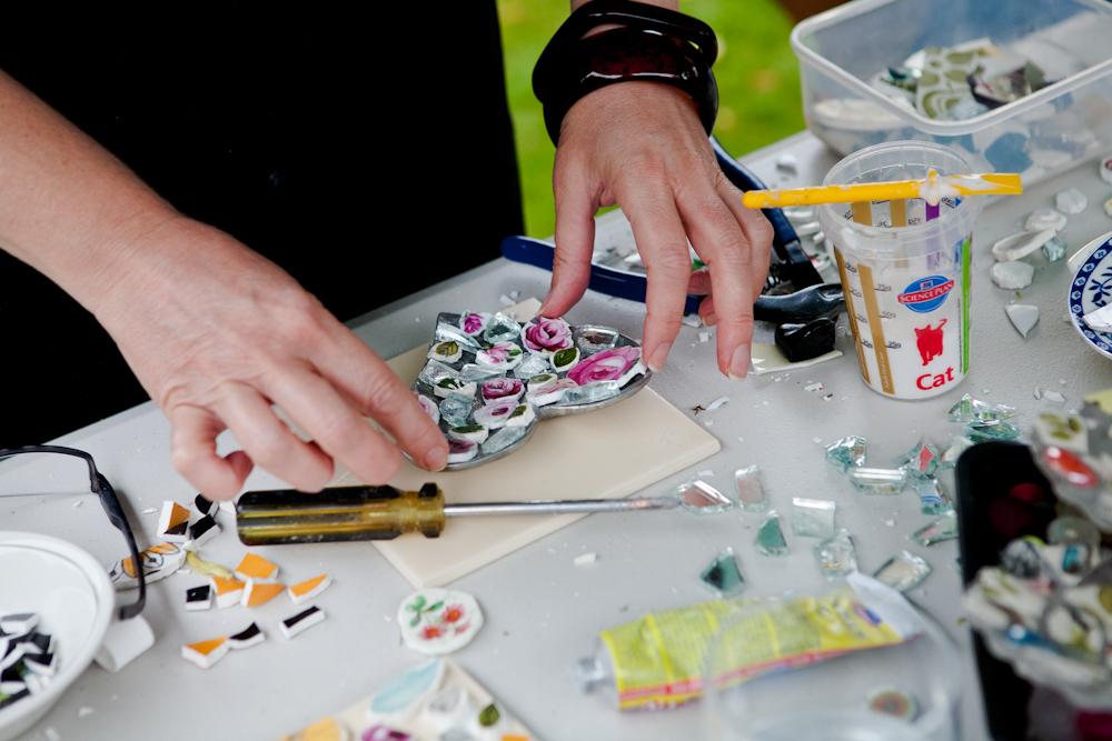 mosaic, workshop,ceramics,creativity,wellbeing