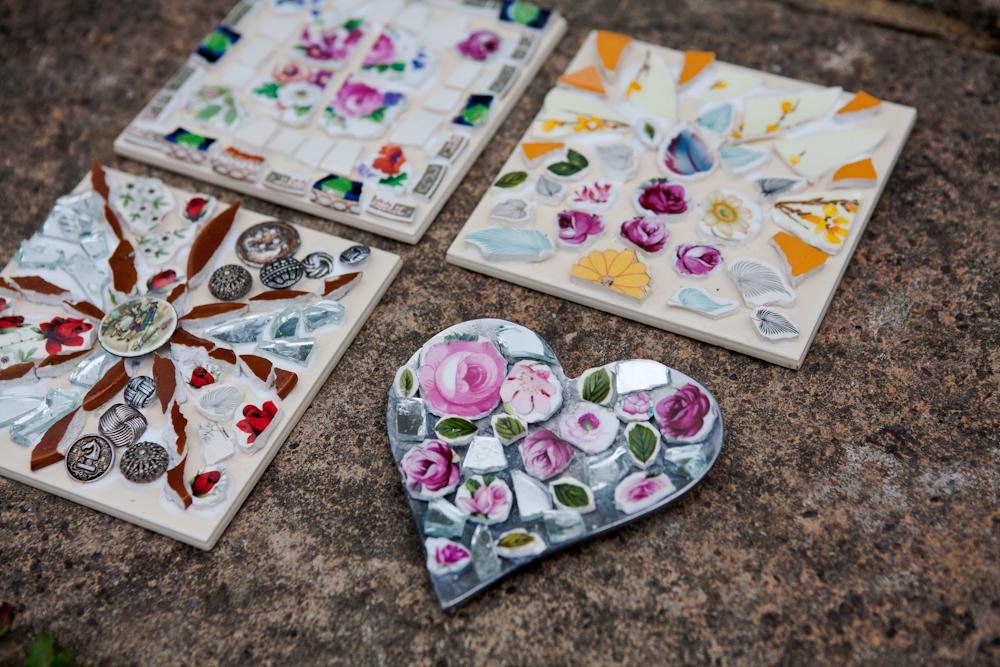 mosaic, workshop,art,sculpture,ceramic,vintage,retro,upcycle,repurpose,create