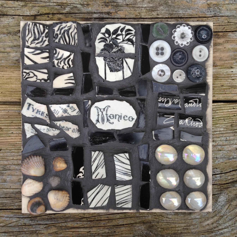 mosaic, tile,art,retro,vintage,sculpture,repurpose,upcycle,recycle