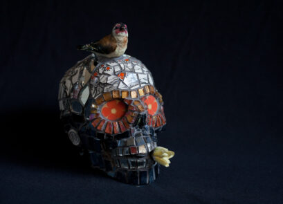 skull, mosaic,ceramic,vintage,sculpture,shakespeare